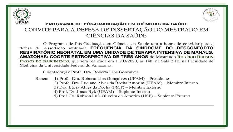 Convite Defesa - Rogério Rudson Passos do Nascimento